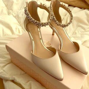 "Beautiful 2"" champagne color heel"